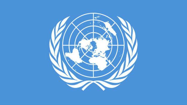 Flagge der Vereinten Nationen.