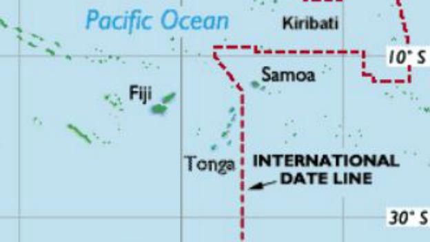 Samoa: Inselstaat an der Datumsgrenze.