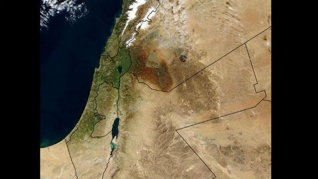 Luftansicht von Palästina.