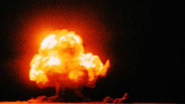 Der erste Atombombentest der Geschichte.