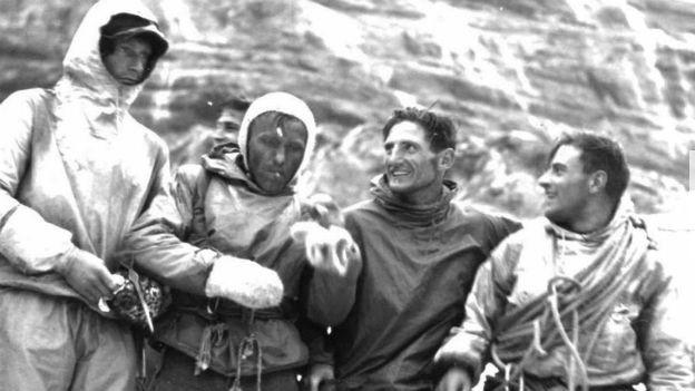 Drei Tage Nordwand: Die vier Erstebesteiger.