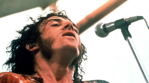 Joe Cocker am Festival von Woodstock.