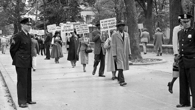 Demonstrationen für den ermordeten Emmett Till 1955