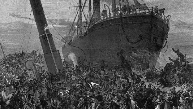 Zeitgenössische Darstellung des Schiffsunglücks