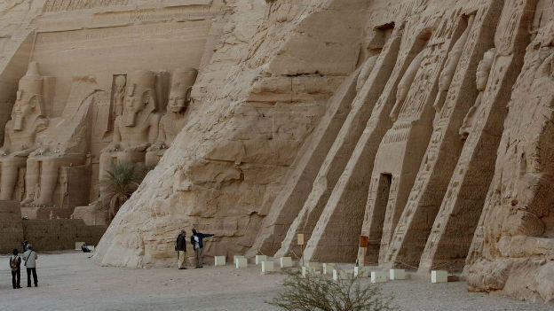 Tempelanlage von Abu Simbel.