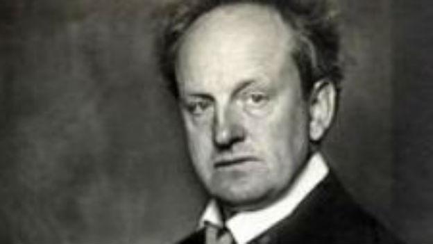 Der Dramatiker Gerhart Hauptmann.