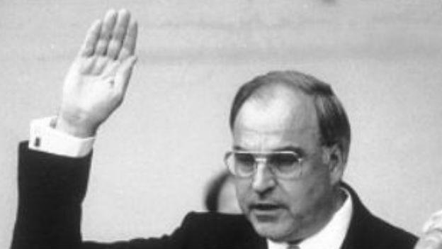 Vereidigung von Helmut Kohl.