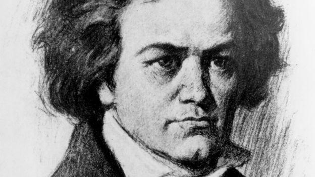 Portrait des Komponisten Ludwig van Beethoven.