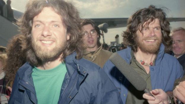 Messner und Fuchs, vom Südpol zurückgekehrt.