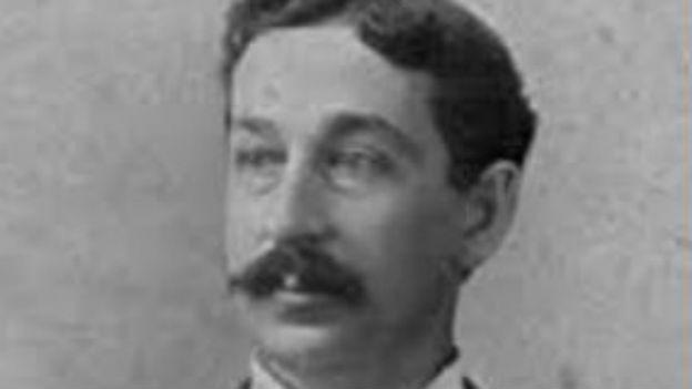 Portrait des Erfinders der Einweg-Rasierklinge, Gillette.