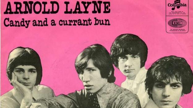 Die vier Bandmitglieder von Pink Floyd auf dem Cover ihrer ersten Single «Arnold Layne».