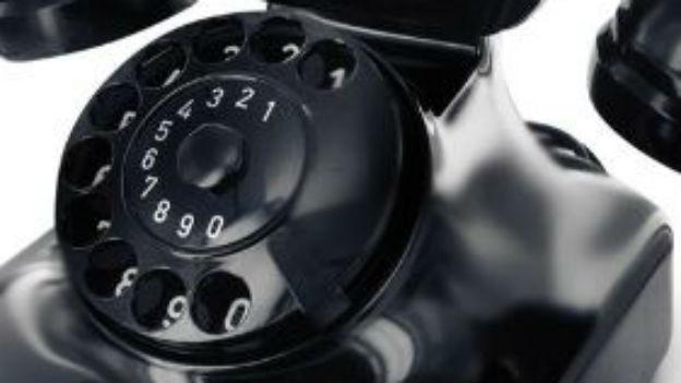 Die Telefonwählscheibe: Garant für die Verbindung.