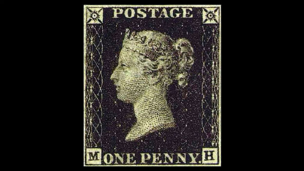 Geburt des «Prepaid»-Systems: Erste Briefmarke.