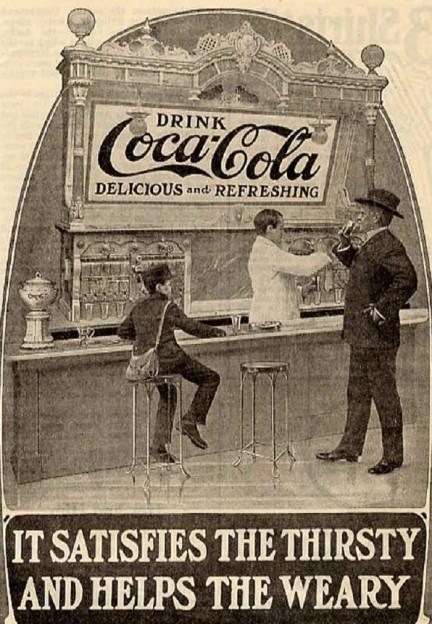 Erste Coca Cola-Werbung aus dem Jahr 1886.
