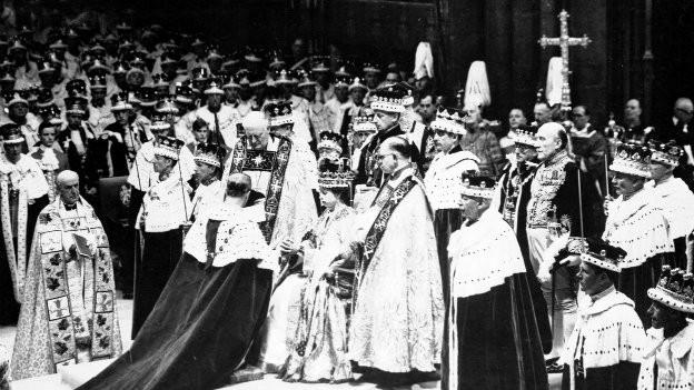 Die Krönung in der Westminster Abbey