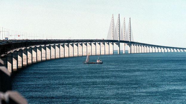 Kopenhagen - Malmö per Auto: Öresundbrücke