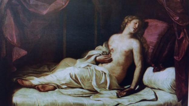 Kleopatra und der Schlangenbiss: Gemälde von Guercino.