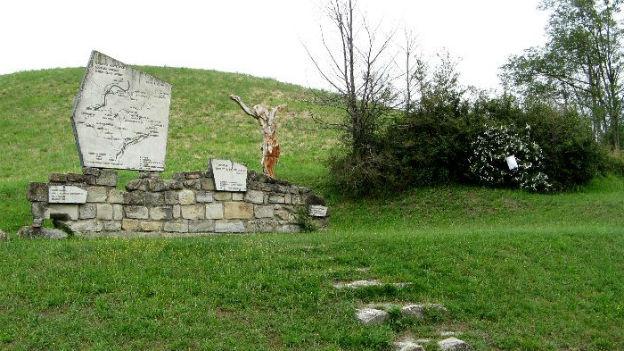 Marzabotto bei Bologna: Gedenktafel für Nazi-Greueltat