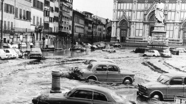 Viele Kunstschätze gingen während der Überschwemmung verloren.