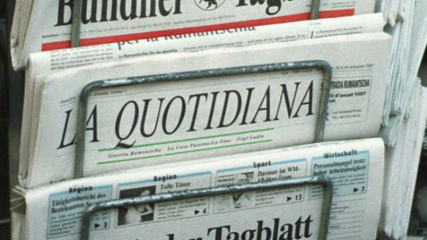 «La Quotidiana», die Tageszeitung für die Rätoromanen.