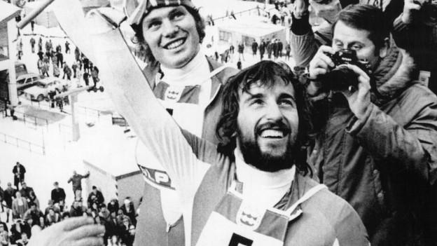 So sehen Sieger aus: ein strahlender Heini Hemmi 1976
