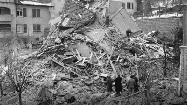Navigationsfehler der US-Bomber: Zürich, 1945.