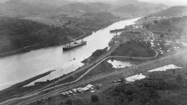 Durchschneidet Mittelamerika: Der Panamakanal.
