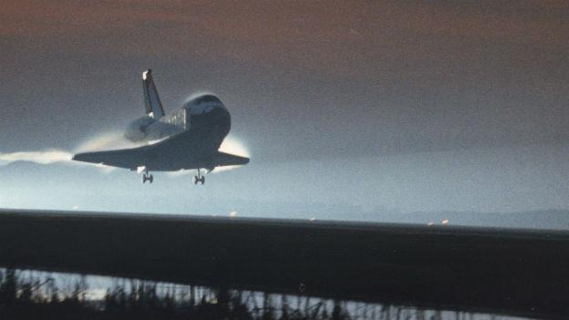 «Space Shuttle» Columbia nach dem Jungfernflug 1981.
