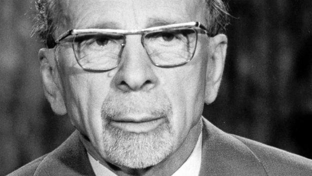 Walter Ulbricht, DDR Generalsekretär bis 1971.