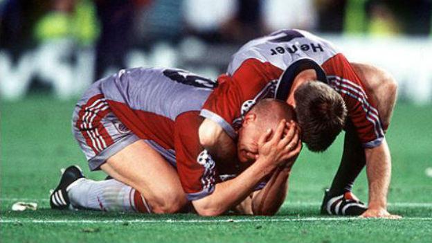 Glaubte sich bereits als Sieger: Bayern München, 1999.