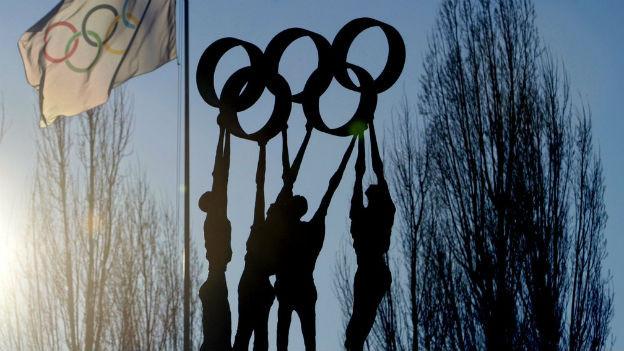 Symbol der fünf Kontinte: Olympische Ringe.