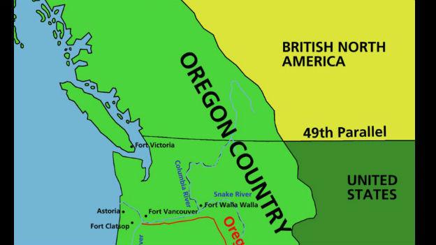 Endlich ein geltender Grenzverlauf: Oregon-Kompromiss.