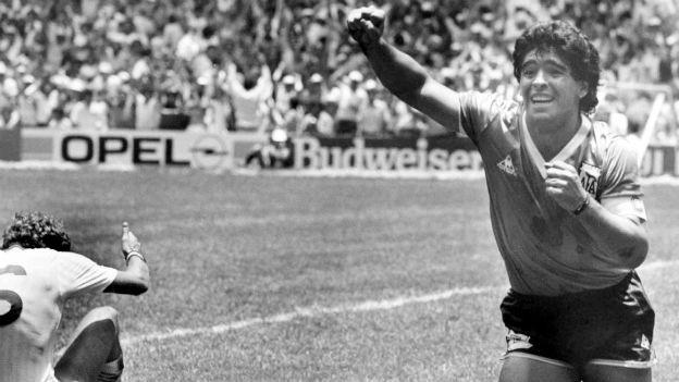 Einer der besten: Fussballstar Diego Armando Maradona.