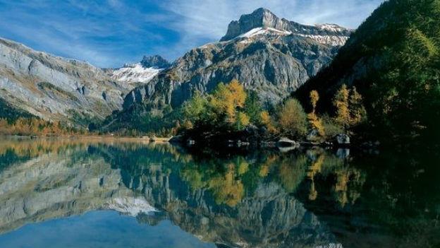 Lac de Derborence, der jüngste Natursee der Schweiz.