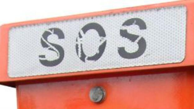 International erkennbarer Hilferuf: SOS.