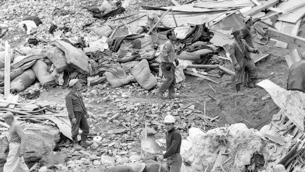 Allalingletscher begräbt 88 Menschen: Mattmark, 1965.