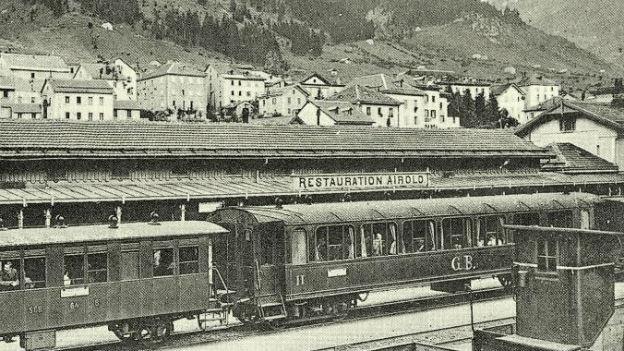 Führt zu Grundsatzfragen: Gotthardbahn.