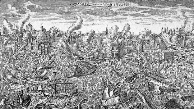 30'000 bis 100'000 Tote: Erdbeben von Lissabon.