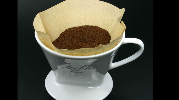 Kaffeesatz bleibt aussen vor: Melitta-Filter.