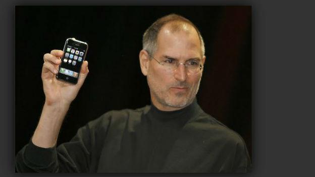 Das i-phone und sein glücklicher Vater, Steve Jobs.