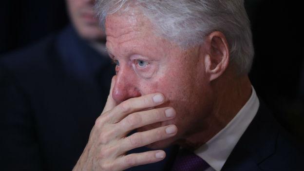 Peinlich für den Präsidenten: Clintons Lewinsky-Affäre.