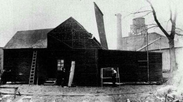 Erstes Filmstudio in West Orange / New Jersey, USA.