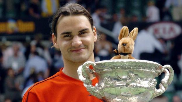 Federer nach seinem zweiten Grand Slam Titel