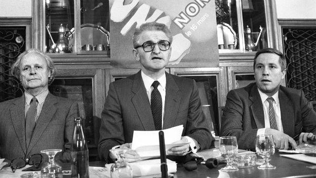 Christoph Blocher (rechts) u.a.: «Nein-zur-UNO»