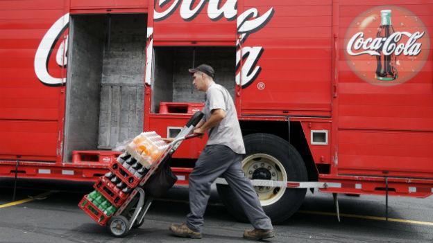 Erfrischung global: «Coca Cola».