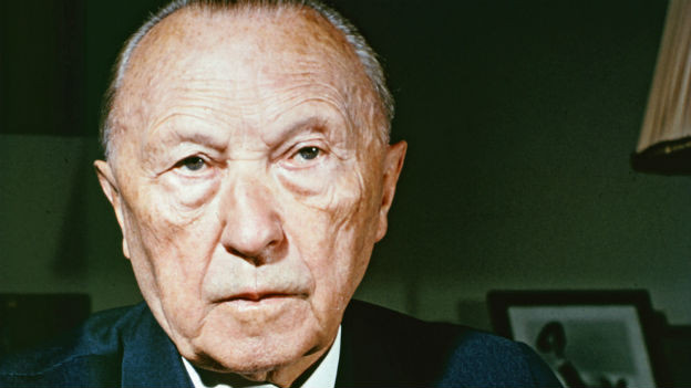 Der erste Kanzler der Bundesrepublik: Konrad Adenauer.