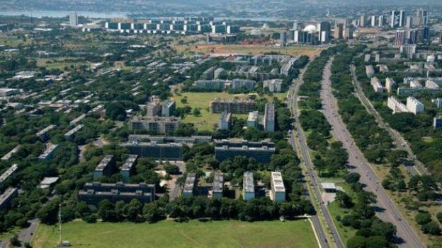 Die Hauptstadt, aus dem Boden gestampft: Brasilia.