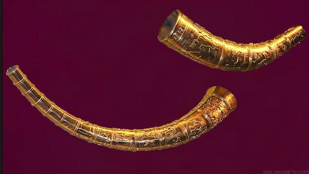 Goldhörner von Gallehus, dänische Nationalsymbole.