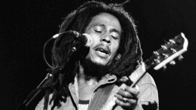 Mitbegründer des Reggae: Bob Marley, 1945 - 1981.