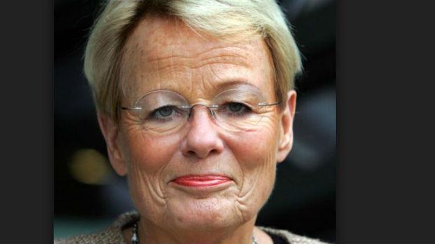 Erste ZDF-Frontfrau für Spätnachrichten: Wibke Bruhns.